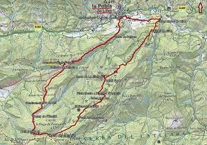 Croquis de la ruta a la Serra del Catllaràs