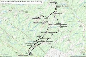 Croquis de la ruta a la Serra de l'Obac