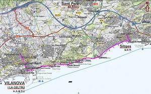 Croquis del camino de ronda de Sitges a Vilanova