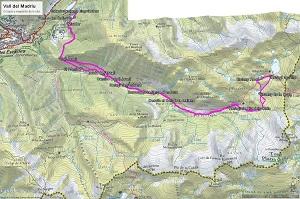 Croquis de la ruta a la Vall del Madriu