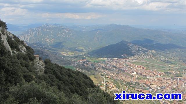 Picancel y Berga desde Santuario de Queralt