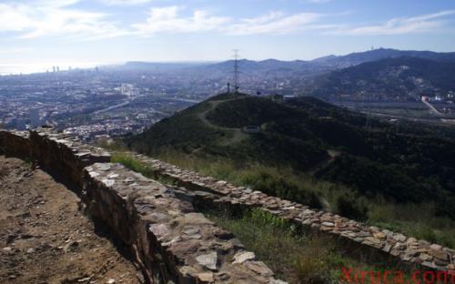 Barcelona desde el poblado ibérico de Puig Castellar